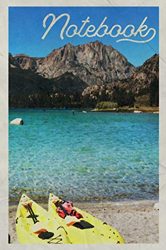Notebook: Sea kayaking lessons Excellent Composition Book Journal Diary for Men, Women, Teen & Kids Vintage Retro Design Canoeing Near Me