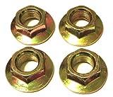 Euros 4 Pack Spindle Lock Nut for MTD 712-0417 712-0417A 912-0417A Cub Cadet MTD Toro