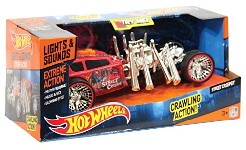 Animagic Hot Wheels Cars Coches con luz y sonidos flash,  Street Creeper Extreme Action