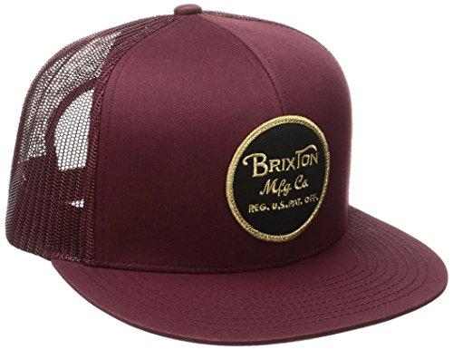 BRIXTON Men's Wheeler Mesh Cap, Maroon, One Siz