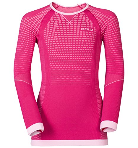 Odlo Evolution Warm Shirt Langarm, rot pflaume, 140