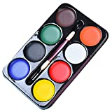 JUSTDOLIFE Body Painting Kit for Carnival Halloween Face Painting Kit 8 Colors Face
