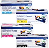 Brother TN-315 Toner Cartridge (Black,Cyan,Magenta,Yellow, 4-Pack)