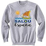 teesquare1st SALOU Spain Gris Sudadera Size Xlarge