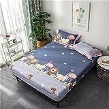 YDyun colchón Acolchado, antialérgico antiácaros, Funda de colchón de una Pieza de sábana de algodón