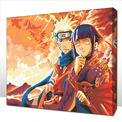 The Best Pictures Diy Digital Oil Painting Acrylic Paint By Numbers Unique Gift Home Decoration 30m Naruto Couples C038 Buy Online In India At Desertcart In Productid 11689093