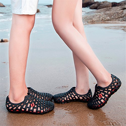 Coo & Mo Unisex Mesh Sandals Casual Beach Water Shoes Black 8.0 D(M)US-41