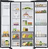 Samsung RS6GA8521B1/EG Side-by-Side Kühlschrank mit SpaceMaxTechnologie, 409 LiterKühlschrank, 225 Liter Gefriervolumen, 351 kWh/Jahr, Premium Black Steel - 8