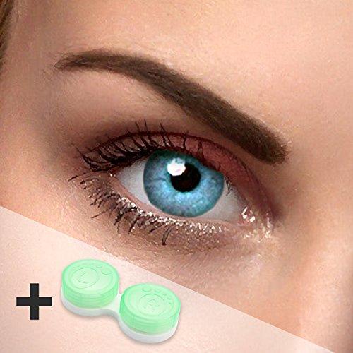 2x Himmelblaue Kontaktlinsen