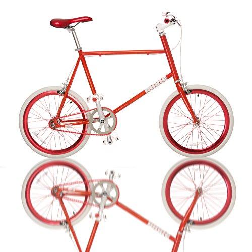 Fydelity MIXIE Mixed Gear Fixie Bike Straightedge – Wheezy – Engrenage Fixe/moyeu de Tongs coloré/Hip Hop Bicycle/BMX/Petites Roues/compactes/Pliables/Style