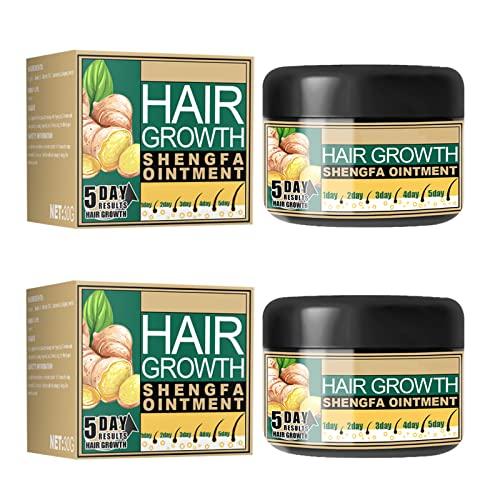 Natural Hair Growth Ginger Cream, Ginger Hair Growth Cream, Ginger Cream for Hair Growth, Hair Growth Essence Serum for Hair Loss Treatment for Men Women (2PCS)