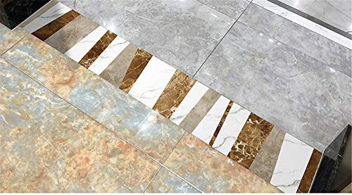 Cenefas de papel pintado autoadhesivas Estilo bohemio PVC Cenefa autoadhesiva Impermeable be móvil para baño Cocina Decoración Etiqueta de la Pared 15CM X 100CM