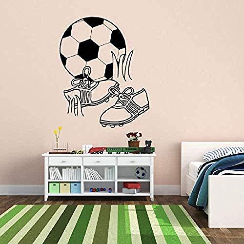 Muursticker,Voetbal voetbalschoenen Spelen voor kinderkamer Kinderen Jongens Slaapkamer Speelkamer Vinylstickers Woonkamer Kunstdecor 56x68cm