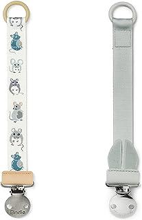 Elodie Details Napphållare 2-pack med Rostfritt Stålklämma för Bebis Pojke och Flicka, Universal Silikonring, Passar alla ...
