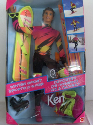 Barbie Ken Winter Sport Snowboard Ski Skate Doll
