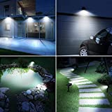 ZEFS--ESD Outdoor Lights, 2 Pack 30 LED Solar Garden Landscape Spotlights PIR Motion Sensor Wall Light with 3 Optional Modes Garden Solar Spotlights (Emitting Color : 2 Packs)