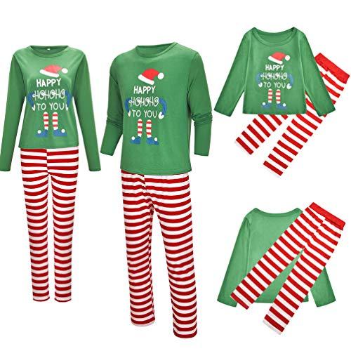 TENDYCOCO Weihnachten Pyjama Set Familie Weihnachten Pjs Set Urlaub Marmeladen für Erwachsene Kinder