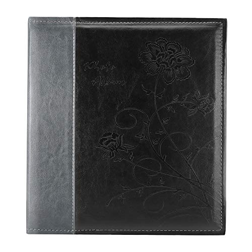 Artmag Photo Album 4x6 1000 Photos, Large Capacity Wedding Family Leather Cover Picture Albums Holds Horizontal and Vertical 4x6 Photos with Black Pages(Black)