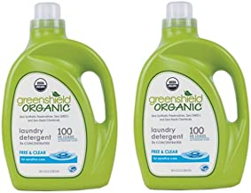 Green Shield Organic - USDA Certified Free and Clear Laundry Detergent - 100 oz. (2 PACK)