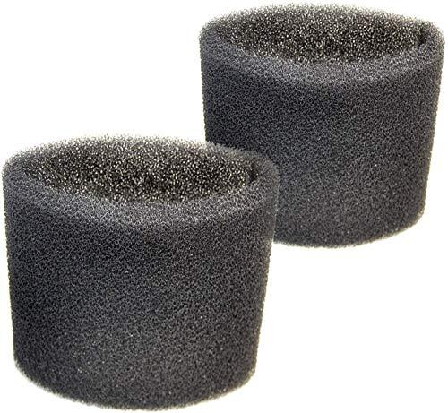 HQRP 2 Foam Filter Sleeves for Shop-Vac 85L250B, 85L350, 85L400, 85L450, 85L500, 85L550, 85L575, 85L600, 85M300, 85S200, 86S150, 86S200 Wet Dry Vacuums