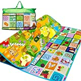 2 Sided 200X180cm Kids Crawling Educational Game Soft Foam Picnic Carpet Play Mat by Crystals