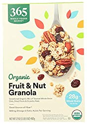 365 by Whole Foods Market, Organic Cereal, Fruit & Nut Granola, 17 Ounce