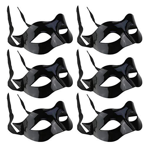 Toddmomy 6 stuks half gezichtsmasker mannen plastic masker leuk oogmasker feestmasker maskerade masker cosplay kostuum accessoire