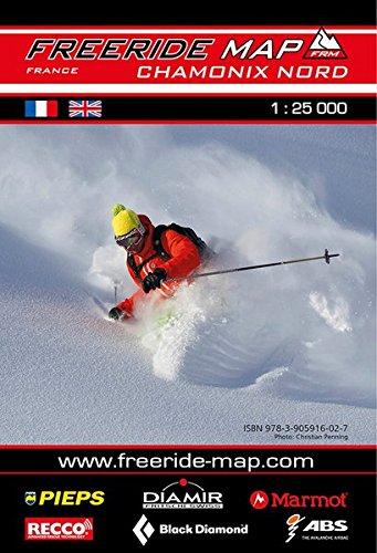 Freeride Map Chamonix Nord: Maßstab 1:25 000