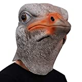 ifkoo Funny Ostrich Mask Latex Rubber Animal Bird Head mask For Halloween Cosplay Costume Party Props (Ostrich)