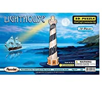 Puzzled Light House 3D Jigsaw Woodcraft Kit Wooden Puzzle [並行輸入品]