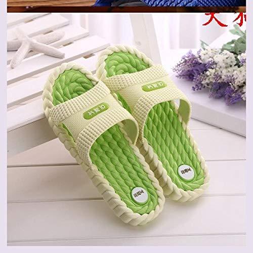 B/H Masajes Playa Chanclas Sandalias,Chanclas de Masaje de Fondo Suave, Pantuflas de plástico Desodorante casero-Green_40,Zapatillas de casa de Fondo Suave