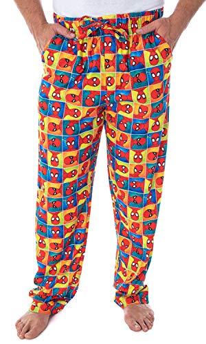 Marvel Men's Ultimate Spiderman Portrait Grid Print Adult Sleep Lounge Pajama Pants (2XL)