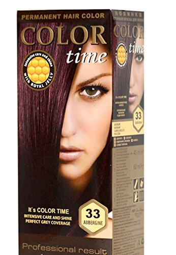 Color Time Coloration permanente avec Gelée Royale Couleur aubergine 33