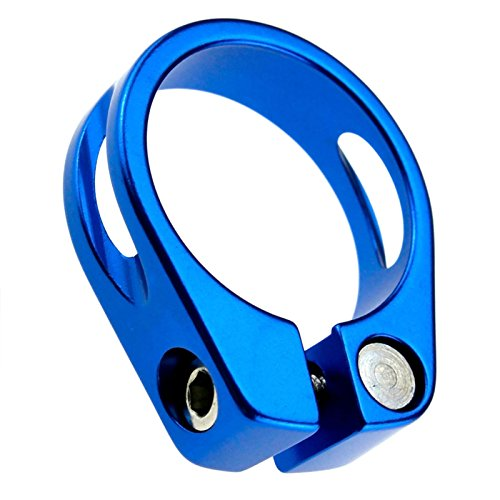 ENET - Morsetto blocca sella in lega per mountainbike e bici da strada, 34,9 mm, colore: Blu