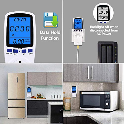 Power-Meter-Plug-Energy-Monitor-with-Backlight-LCD-Display-Electricity-Usage-Monitor-Consumption-Analyzer-Voltage-Amps-Wattage-KWH-Outlet-Power-Meter-Socket-Updated-Version-360-Viewing-Angle