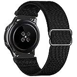 GBPOOT 20mm Cinturino Compatibile con Samsung Galaxy Watch Active 2(40mm/44mm)/Watch 3 41mm/Watch 42mm/Gear S2,Sportiva Nylon Ricambio Watch Band,Pure Black,20mm