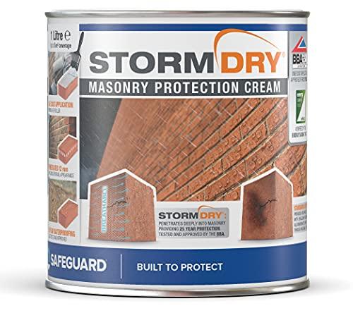 Stormdry impregnante hidrófugo incoloro para humedades por filtraciones - Proporciona 25 años de protección contra la humedad penetrante (1 litro)