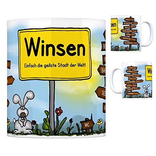 Winsen (Luhe) - Einfach die geilste Stadt der Welt Kaffeebecher Tasse Kaffeetasse Becher mug Teetasse Büro Stadt-Tasse Städte-Kaffeetasse Lokalpatriotismus Spruch kw Hoopte Stelle Luhdorf Gehrden