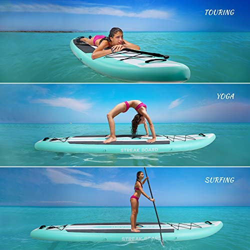 streakboard 11'6'' Stand up Paddle Board, Premium Inflatable SUP Full...