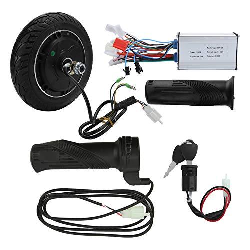 YUUGAA Accesorio de conversión de Scooter eléctrico, 24V 350W Kit de Motor de Cubo sin escobillas de Rueda de Metal Juego de conversión de Scooter eléctrico de 8 Pulgadas