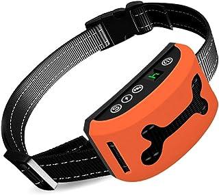 Mumoo Bear Dog Bark Collar, Rechargeable Stop Barking Collar with 7 Adjustable Sensitivity and Intensity Levels, Orange
