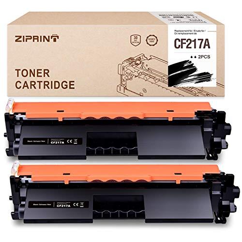 ZIPRINT Compatible HP 17A CF217A Cartucho De Tóner Negro (con Chip) para HP Laserjet Pro M102a M102w MFP M130a MFP M130fw MFP M130fn M130nw(2Negro)