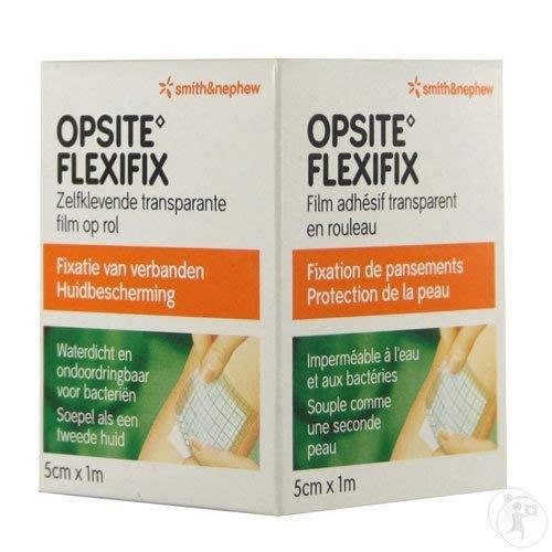 Opsite Flexifix Transparente Folienrolle, 5 cm x 1 m, 2 Stück