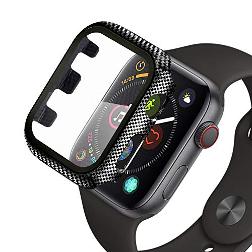 Wenearn Cover Rigida Thin Fit Compatibile con 42mm Apple Watch Serie 3/2/1 + Vetro Temperato AntiGraffio, Custodia in Plastica Paraurti e Protezione per Schermo per Apple Watch 42mm, Nero