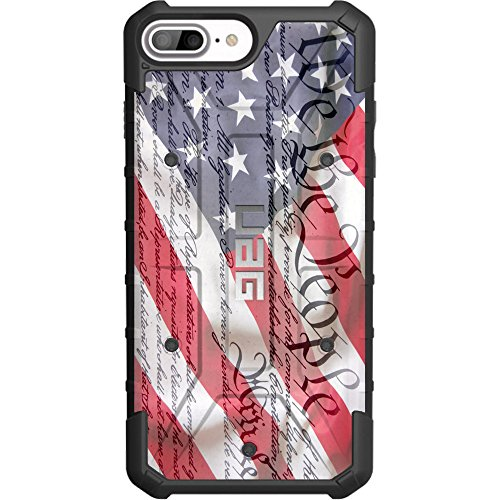 """Limited Edition - Authentic UAG Urban Armor Gear Case for Apple iPhone 8 Plus/7 PLUS/6s Plus/ 6 Plus (Larger 5.5"""") Custom by EGO Tactical- We The People Constitution Flag"""