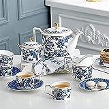 Tea Set 11 Piece Bone China European Coffee Cup Set High-end Luxury Elegant Home Ceramic English Afternoon Tea Black Tea Tea Set
