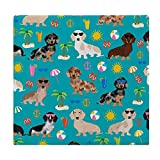 Kids' Memory Foam Dachshund Dog Chair Cushion - Super Breathable and Comfy Square Seat Cushion with Washable Memory Foam Unique Decor for Office Chair Bar Stool