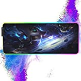 RGB Gaming Mouse Pad for Cosmic Enchantress LuLu with Non-Slip Rubber Base,12 Lighting Modes,Water-Resistant,4mm Thick,Glowing LED Extended Large Mouse Mat,for Gaming and Office 11.8x31.5 inch