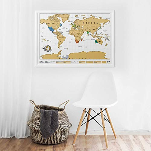 Scratch Map Original Scratch off Map, Personalized World Travel Map Poster with countries, states,...