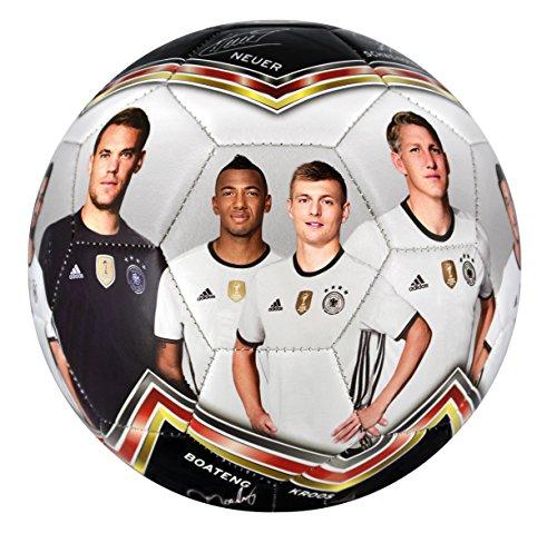 DFB Fussball Fotoball, weiß/schwarz/rot/gold, 1, 60029-2016